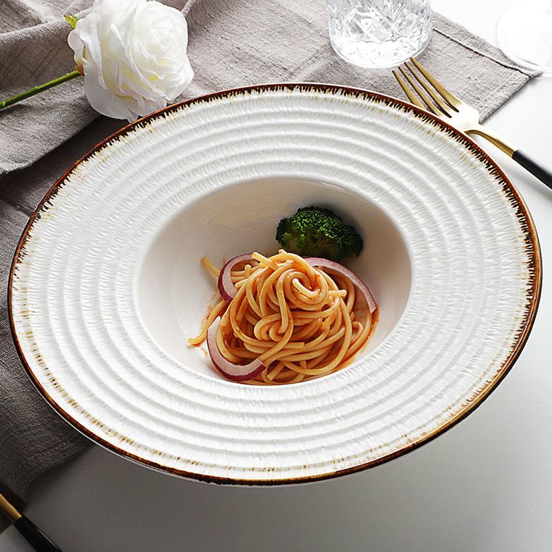 Teteras Al Por Mayor Restaurant Dinner Plates Used In Wedding Plate, Restaurant Plates, Ceramic Spaghetti Plate^