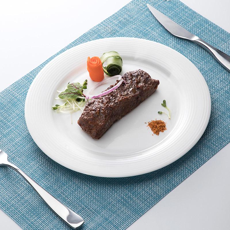 Porcelain White Plate Dinner Party Tableware Set Restaurant Plates Supplier%