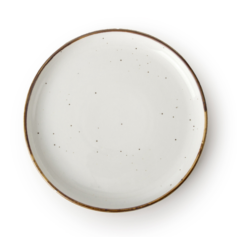 Chaozhou Ceramic Luxury Crockery, European Style Ceramic Flat Plate, Hotel Ceramic Plate/