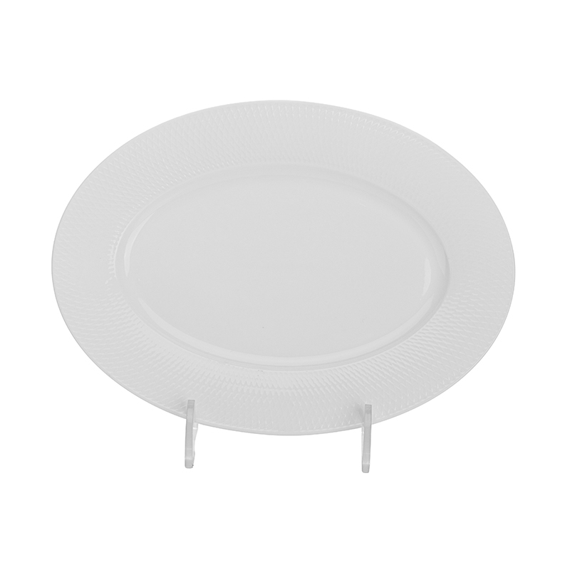 Eco Friendly Banquet Wedding Dishes Royal Fish Plate, Party & Event Catering Horeca Dinner Oval Plates For Restaurant&