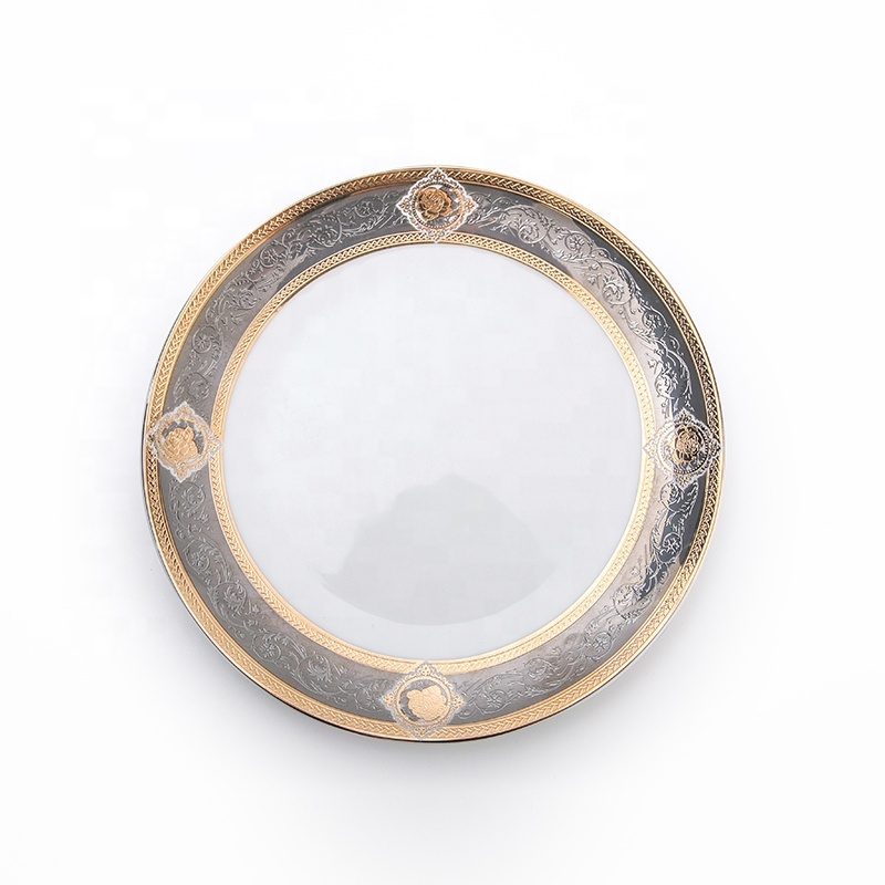 New Series Plate Dubai Market Hotel Restaurant Crockery Tableware, Bone China Round Plate^