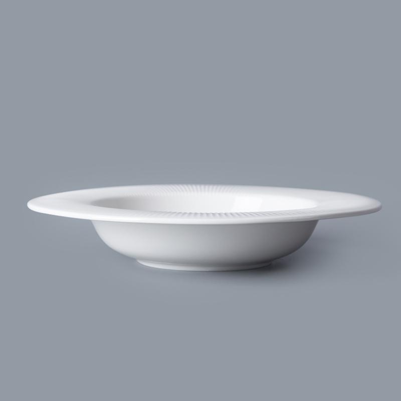 Hotel Tableware Bulk Porcelain Soup Plate, Hotel Quality Plates Soup Plate/
