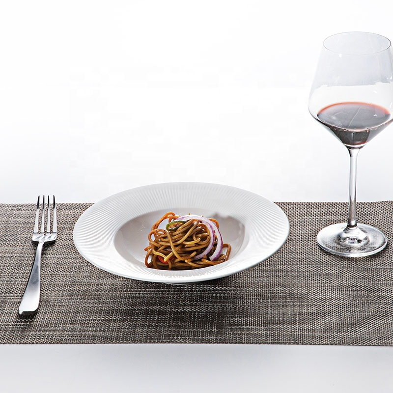 New Product Ideas 2019 Innovative for Hotels Hotel Gourmet Beauty Dish, Two Eight Ceramic Wide Rimmed Pasta Bowls%