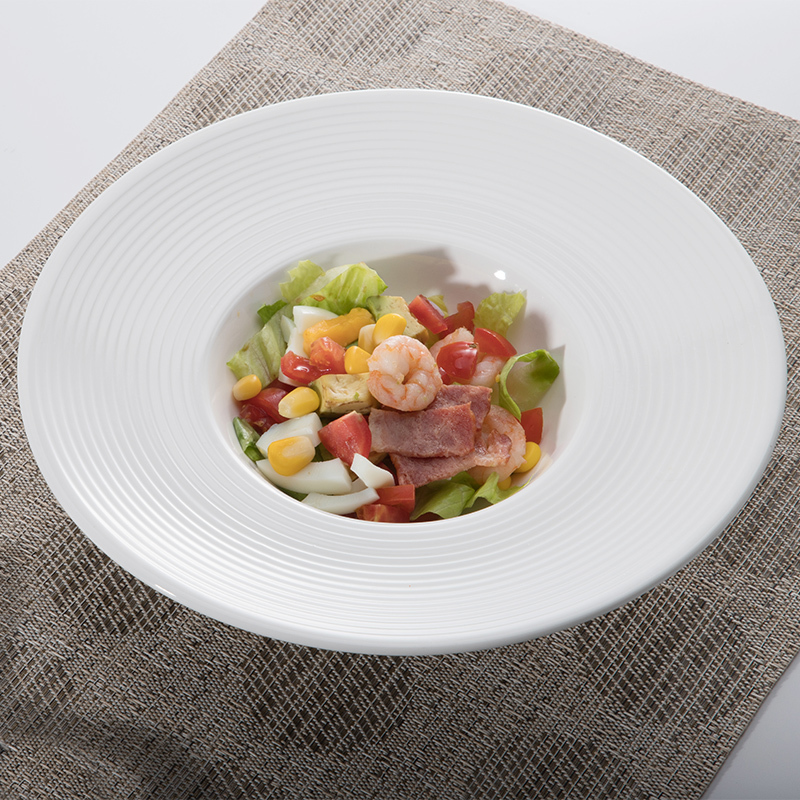 Smooth Morden Event Party Gourmet Deep Rimmed Bowl, Professional Wholesale Restaurant Catering Pasta Bowl,Grapefruit Bowl@