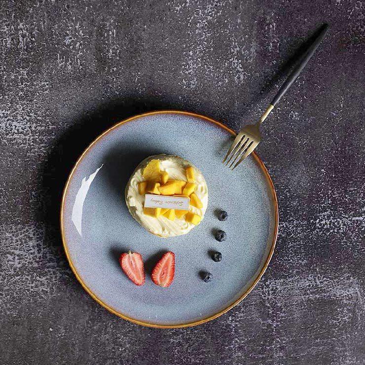 28ceramics Rustic 6/7/8/9/10.5 Inch Side Plates, 28ceramics Royal And Luxury Dinnerware Plates Ceramic Tableware@