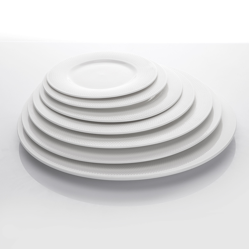 New Product Ideas Catering Plates Hotel Ceramic, Banquet White Dining Plate, Restaurant Wholesale China Dishes@