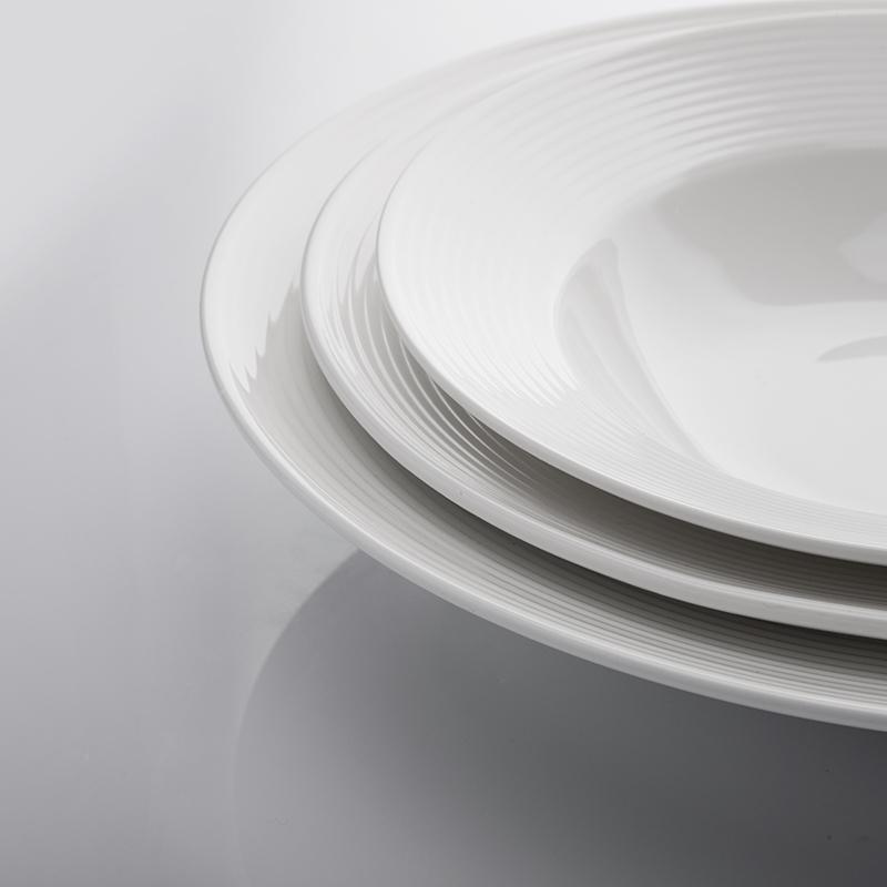Wholesale Dessert Plate ,Fancy White Ceramic Soup Bowl Hotel For Assiette Restaurant/