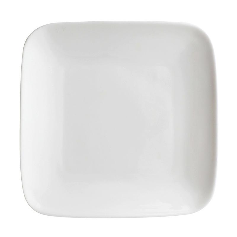 Square 9.25 Inch Ceramic Dinner Plates Restaurant Cafe White Dinnerware Dish Hotels