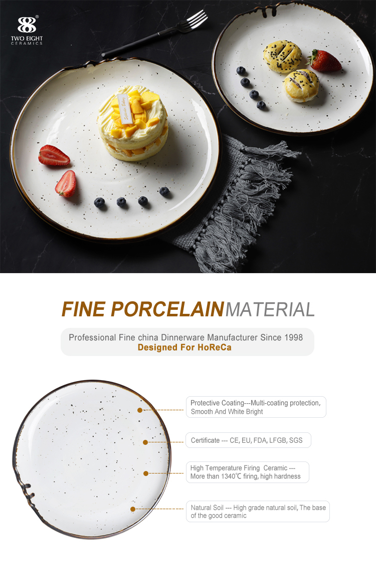 Special Banquet Dinnerware China Dishes Dinnerware, Color Glaze Resort Ceramic Round Plate, Porcelain China Dishes Wholesale*