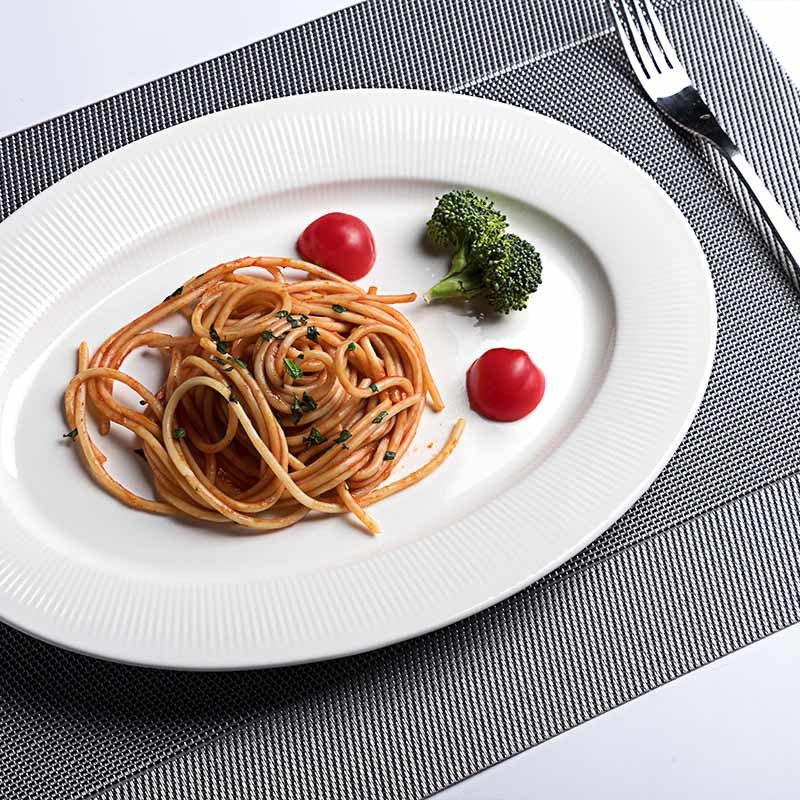 Dishwasher Safe Restaurant Porcelain Oval Platter, Wedding Hotel Wedding Dishes Royal Crokery Oval Fish Dish Plate&