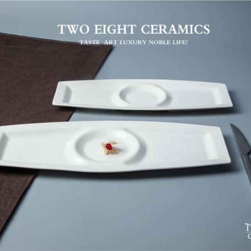 2017 Hot Design Wholesale White sectional dinner plates