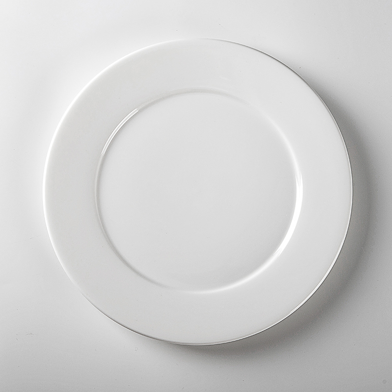 Best Seller Western Style White Porcelain Dishes Plates, Dishwasher Available Strong Hotel Used Dinner Plates/