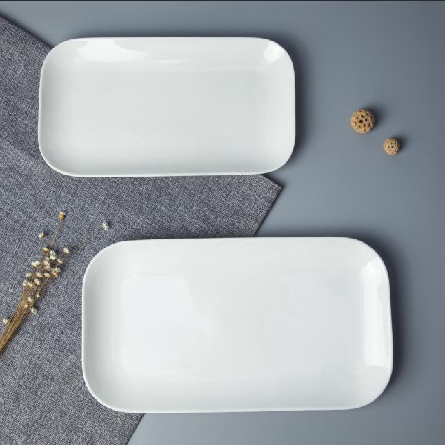 Wholesale China Porcelain Dinner Plate, Used Restaurant Rectangular Plate/
