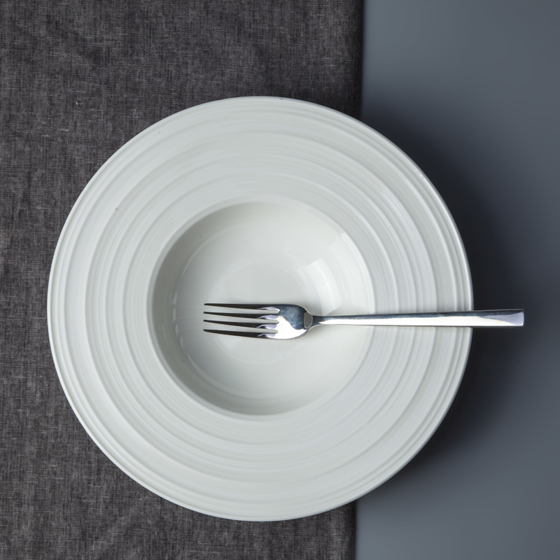 Wholesale china porcelain restaurant dinnerware white round soup plate