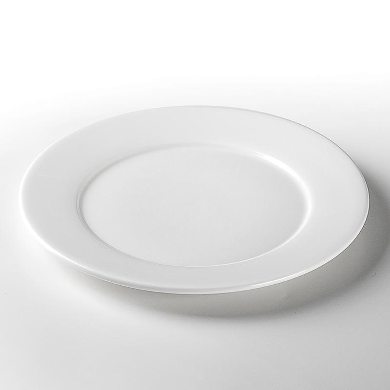 Luxury Lounge Vajilla Gourmet Ceramic Plates, Fine Restaurant Crokery Plate Dinnerware, Hotel White Wholesale Dinner Plates/