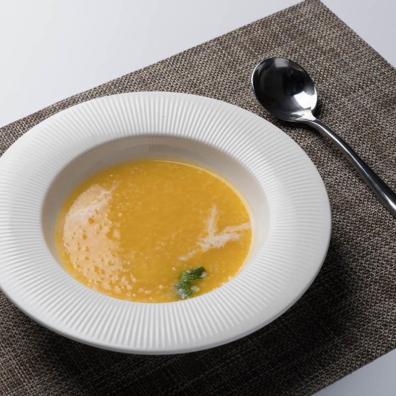8.75 inch Chines Manufacturer Round Plain White Italian Hotel Crockery Restaurant Deep Porcelain Ceramic Dinner Pasta Soup Dish%