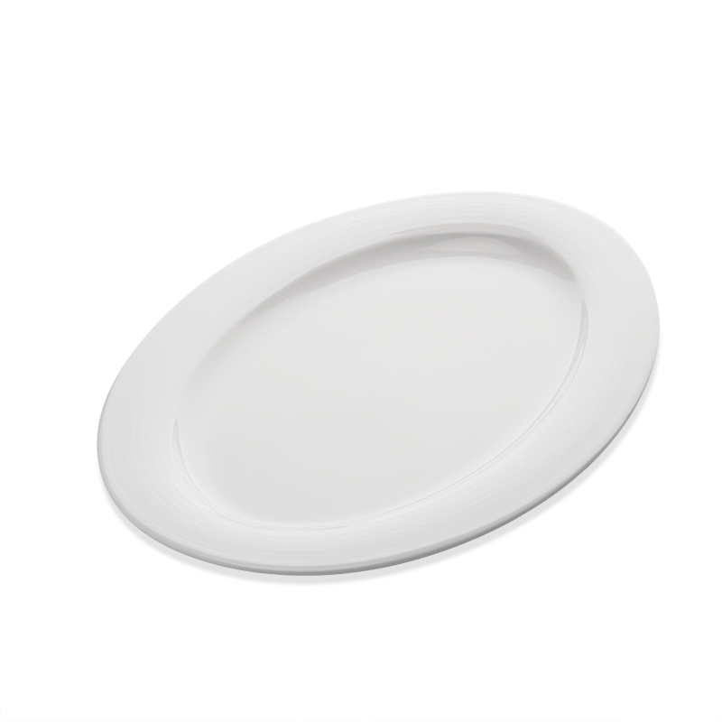 Nordic Chaozhou Manufacturer 10 Inch Dinner Plate, Bulk White Dinner Plates Restaurant Fish Plate Oval Dish