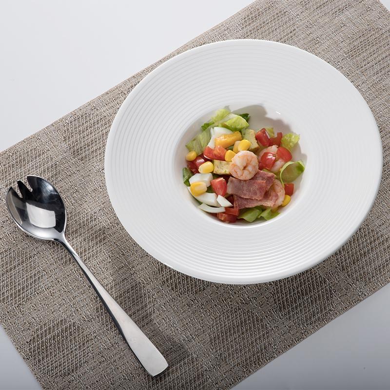 Crokery Tableware Strong Lounge Ceramic Dessert Plate, Wedding Horeca Soup Plate, Luxury Durable Club Ceramic Dinner Dish Plate^