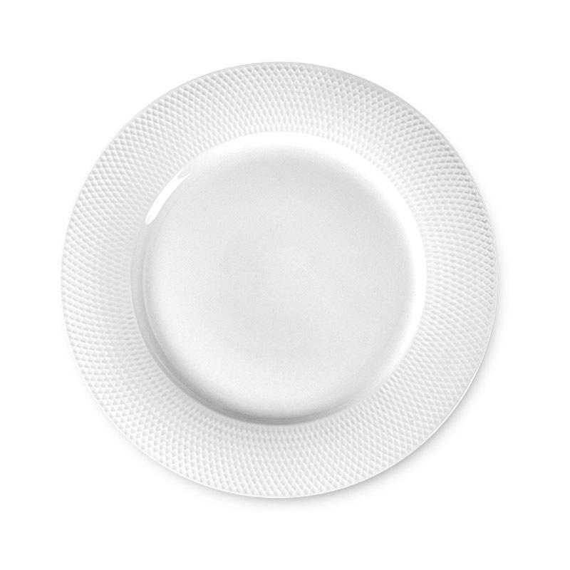 Wholesale Catering Dinnerware Bulk White Dinner Plates, Dishwasher Safe Banquet Porcelain Round Dessert Plate^