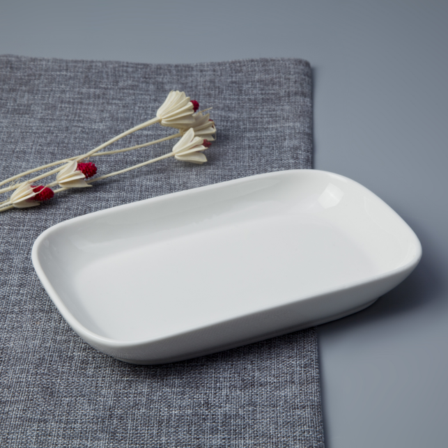 Bulk Ceramic Ware Kitchen Fine Quality Crockery White Porcelain Plate For Dishes^