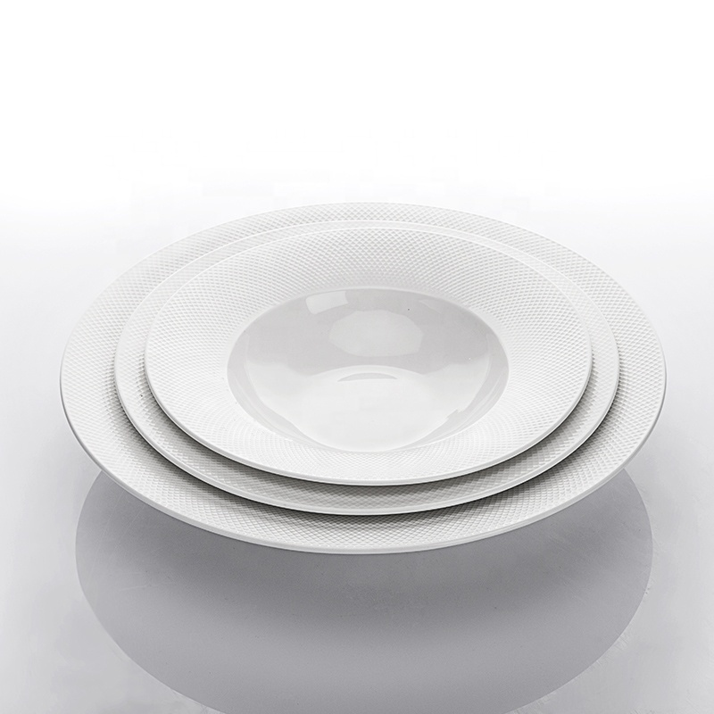 Unique Product Hotel Restaurant Plates Soup Bowl, Two Eight Ceramics Crockery Tableware Pasta Plate Round Plate&