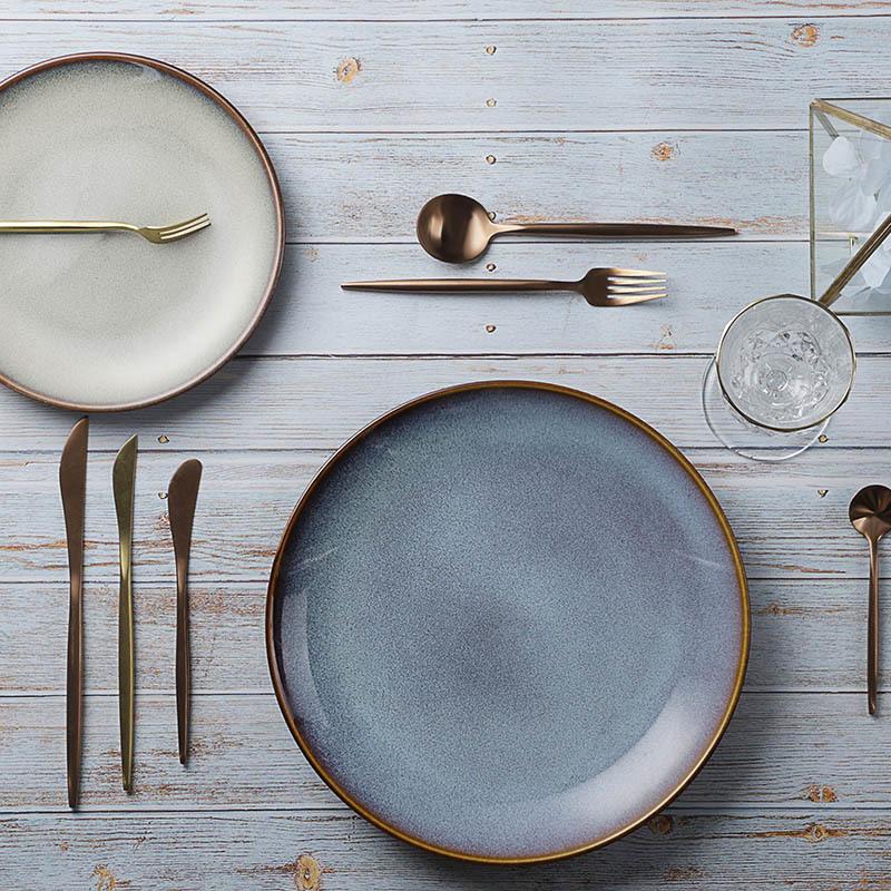 28ceramics Dinnerware Set 6/7/8/9/10.5 Inch Kitchen Plates, Restaurant Dinnerware Rustic 6/7/8/9/10.5 Inch China Plates*