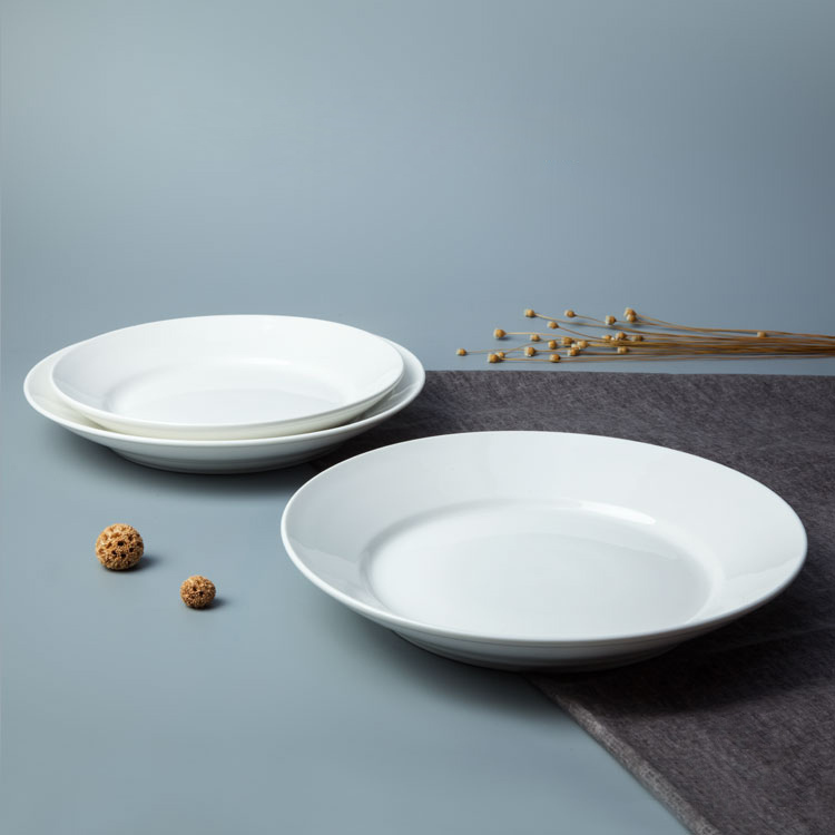 High Quality Restaurant Ceramic Plates Dishes, Custom Logo Ceramic Porcelain Plates Dishes