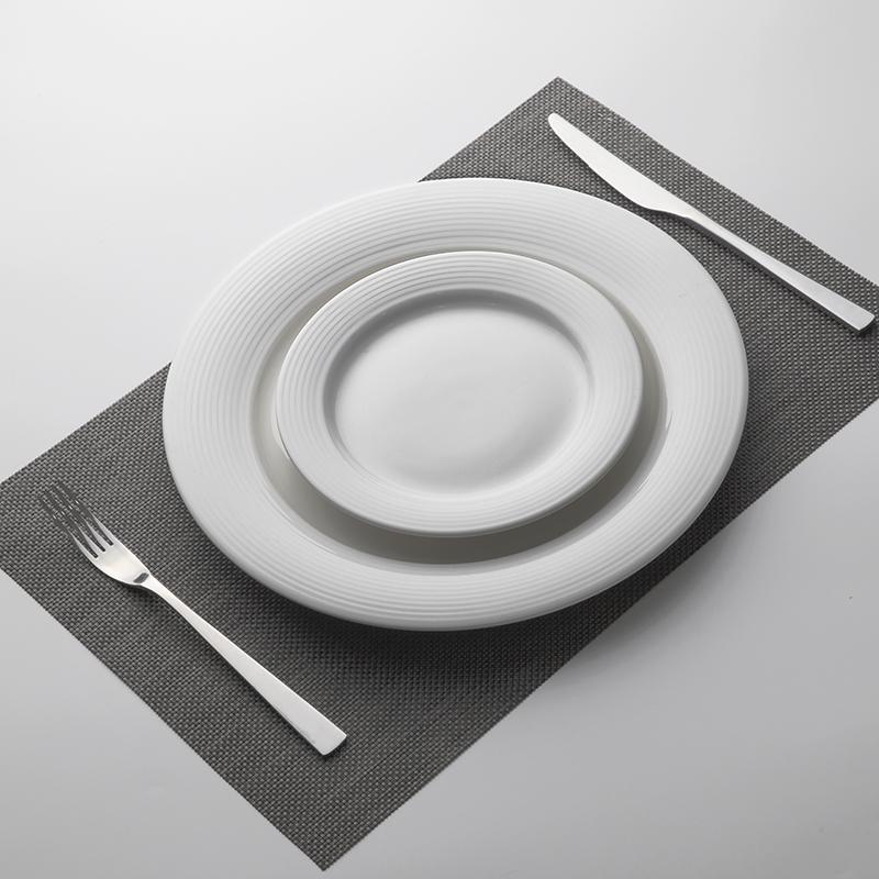 Wholesale Scratch Proof Porcelain Plates Sets Dinnerware, Crockery White Ceramic Plate, White Ceramic Wedding Dinner Plates