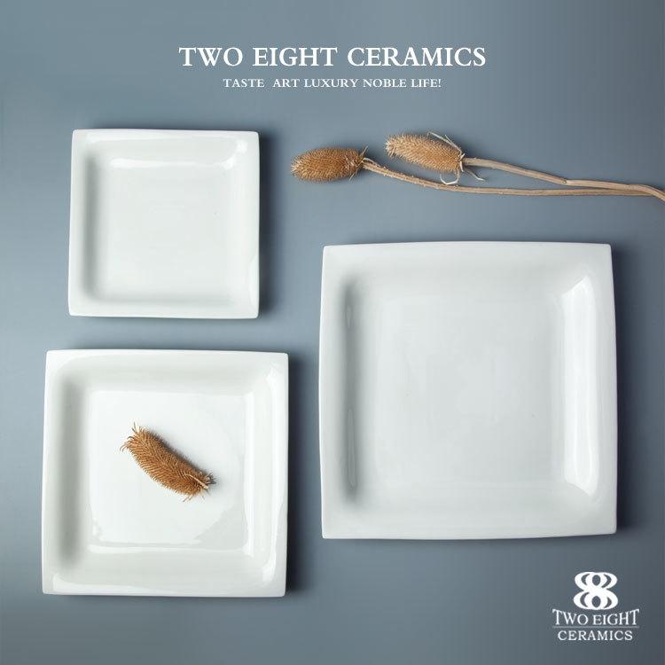 Cheap bulk dinner plates square dinner set ceramic plate for fried rice