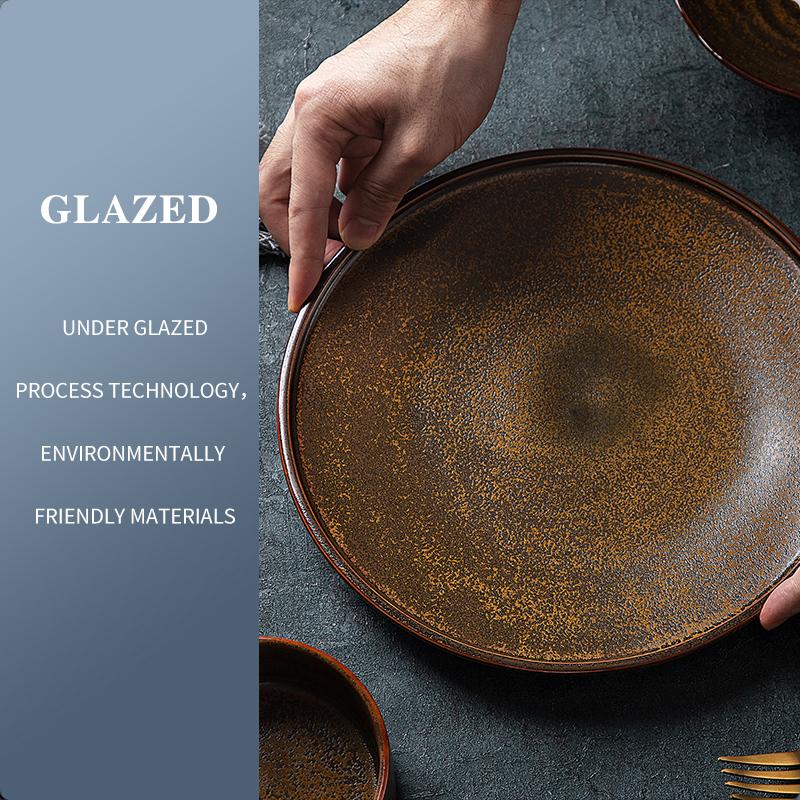 Restaurant Ceramic Plates Dishes Matt , Plate And Bowl, Porcelain Plate&