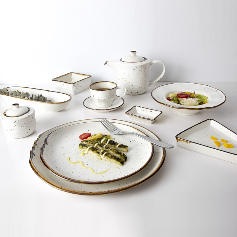 Innovation Fashion Crokery Dinnerware Banquet Color Oval Plate, Wholesale Glazed Hotel Restaurant Oval Serving Platter/