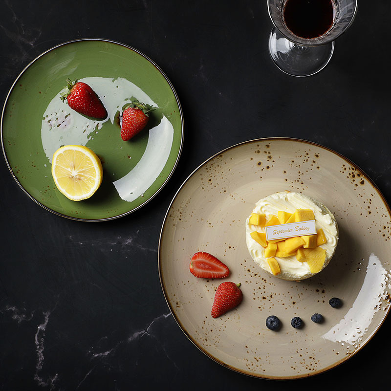 Five Star Hotel Crockery Dishes Restaurant Dinner, Color Hotel Ware Plates, Rustic Ceramic Plate Restaurant!