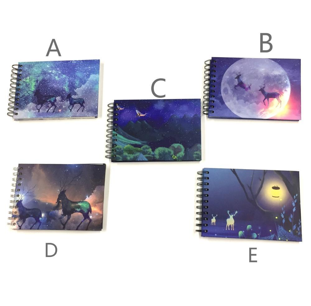 product-Mini SizeSpiral Bound Scrapbook Cute Wholesale Photo Album With Blank White DIY Stick Pages--2