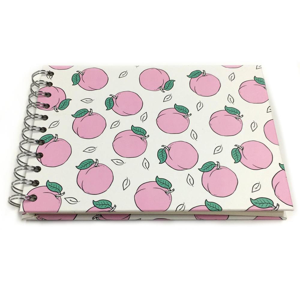 Peach Fruit Theme 5.8x8 Inch Spiral DIY Self Adhesive Scrapbook Photo Album For gift