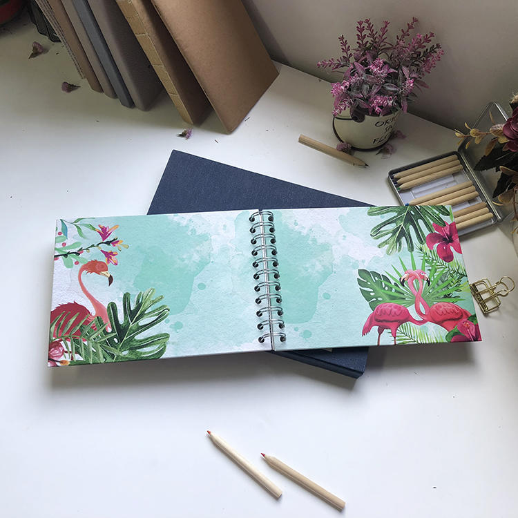 Bulk Purchase Spiral Bound 5x7 Self Stick Photo Album for Christmas With 20 Pages,custom logo