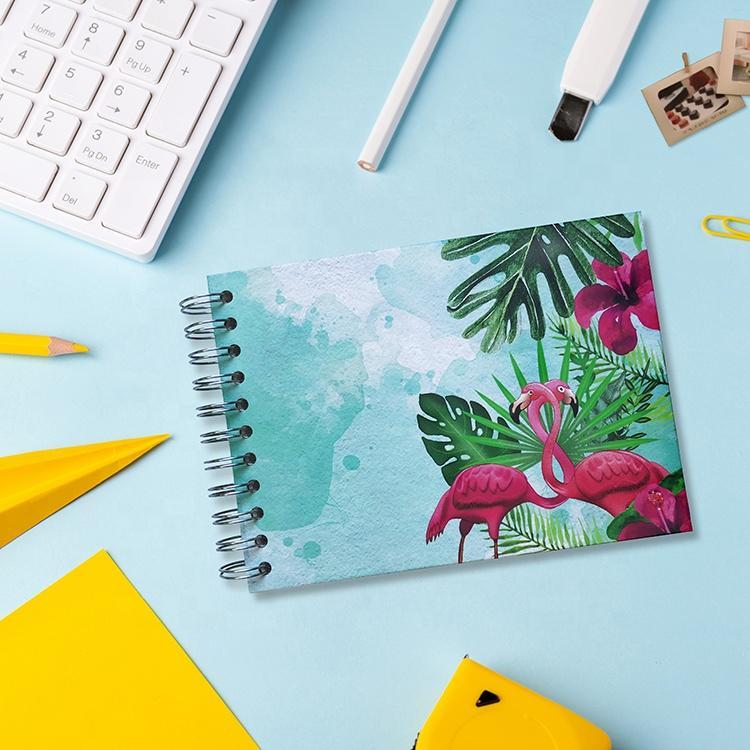 product-Low MOQ Custom Print Flamingo Design Hardcover Spiral Photo Album for Polaroid-Dezheng-img-1