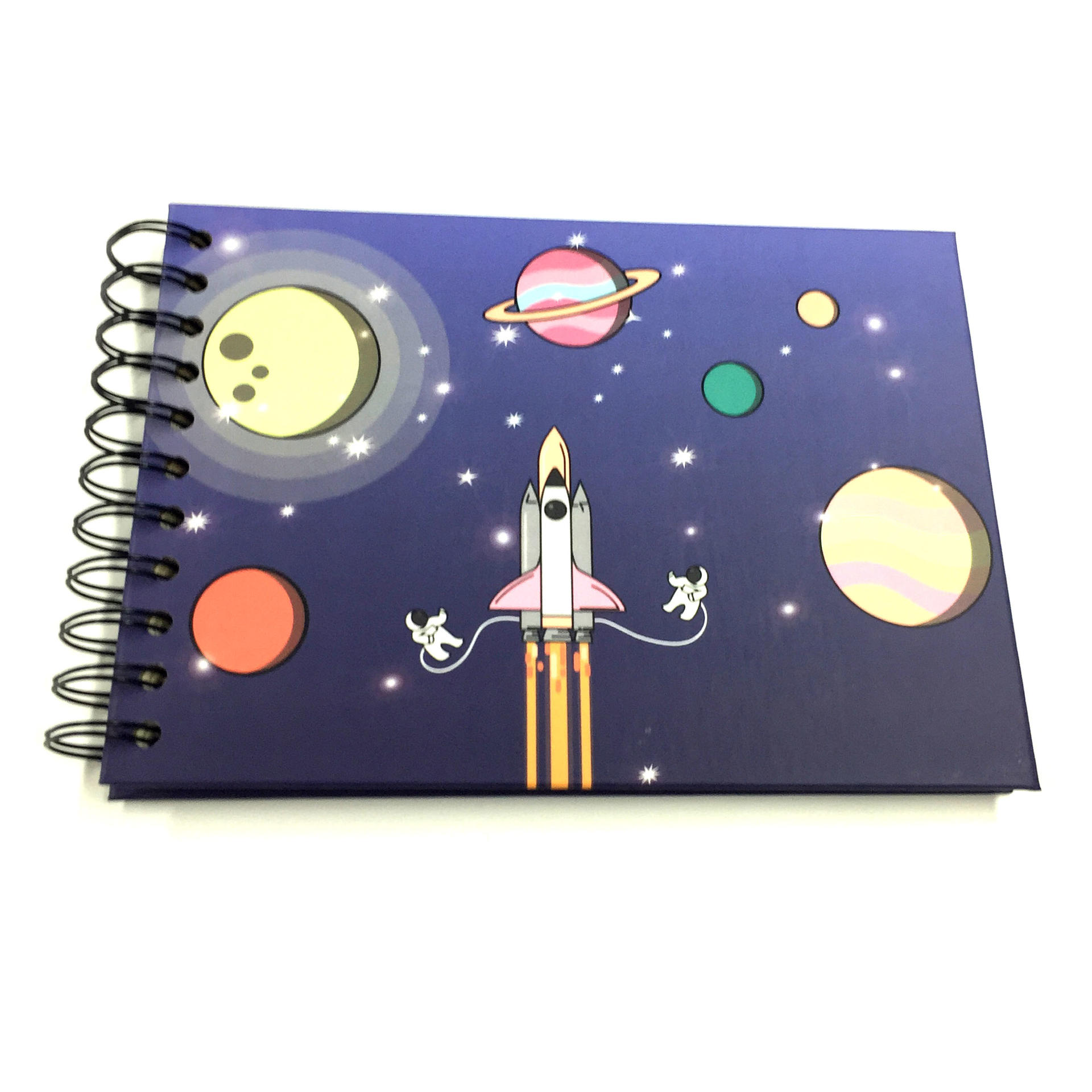 product-Rocket Planet Theme 4x6 Small Scrapbook Photo Album With 20 DIY Stick Pages-Dezheng-img-2