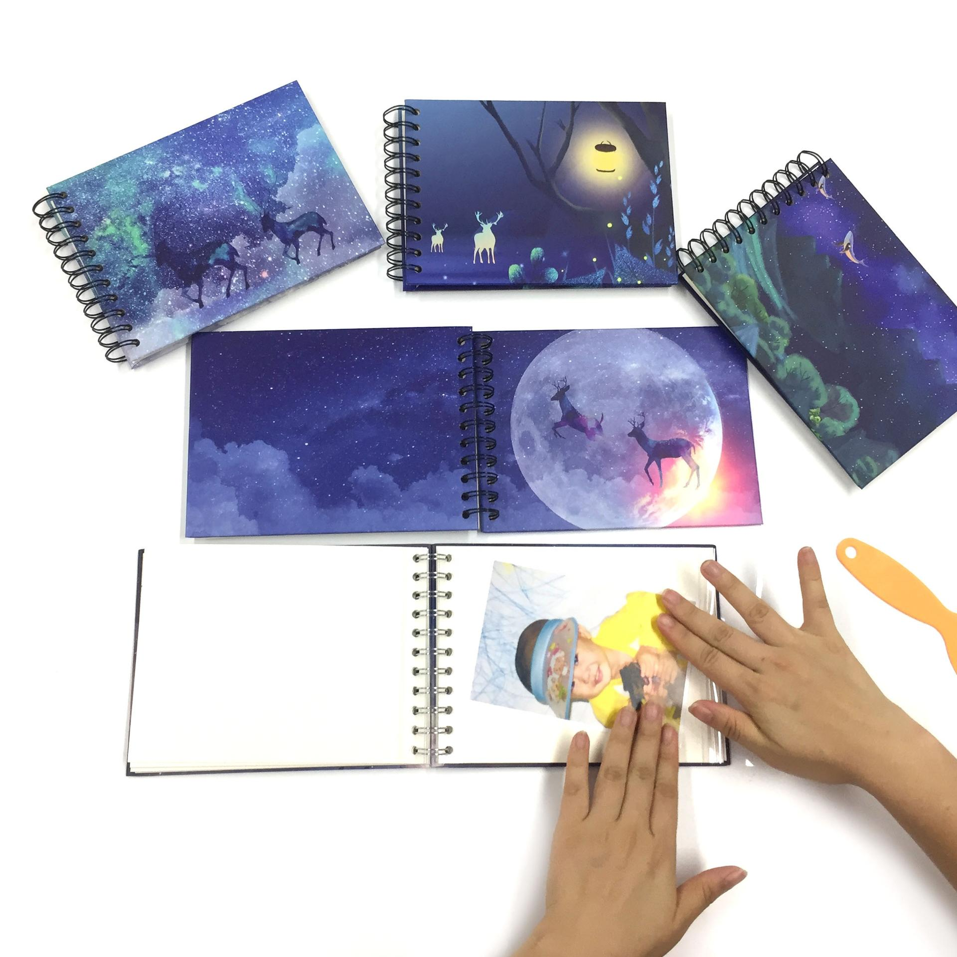 product-Dezheng-Beautiful Deer Forest Design Self Adhesive Sheets Photo Album-img-1