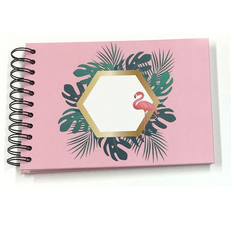 product-Beautiful Flamingo Spiral binding 10 sheets Self Stick Photo Album Scrapbook-Dezheng-img-2