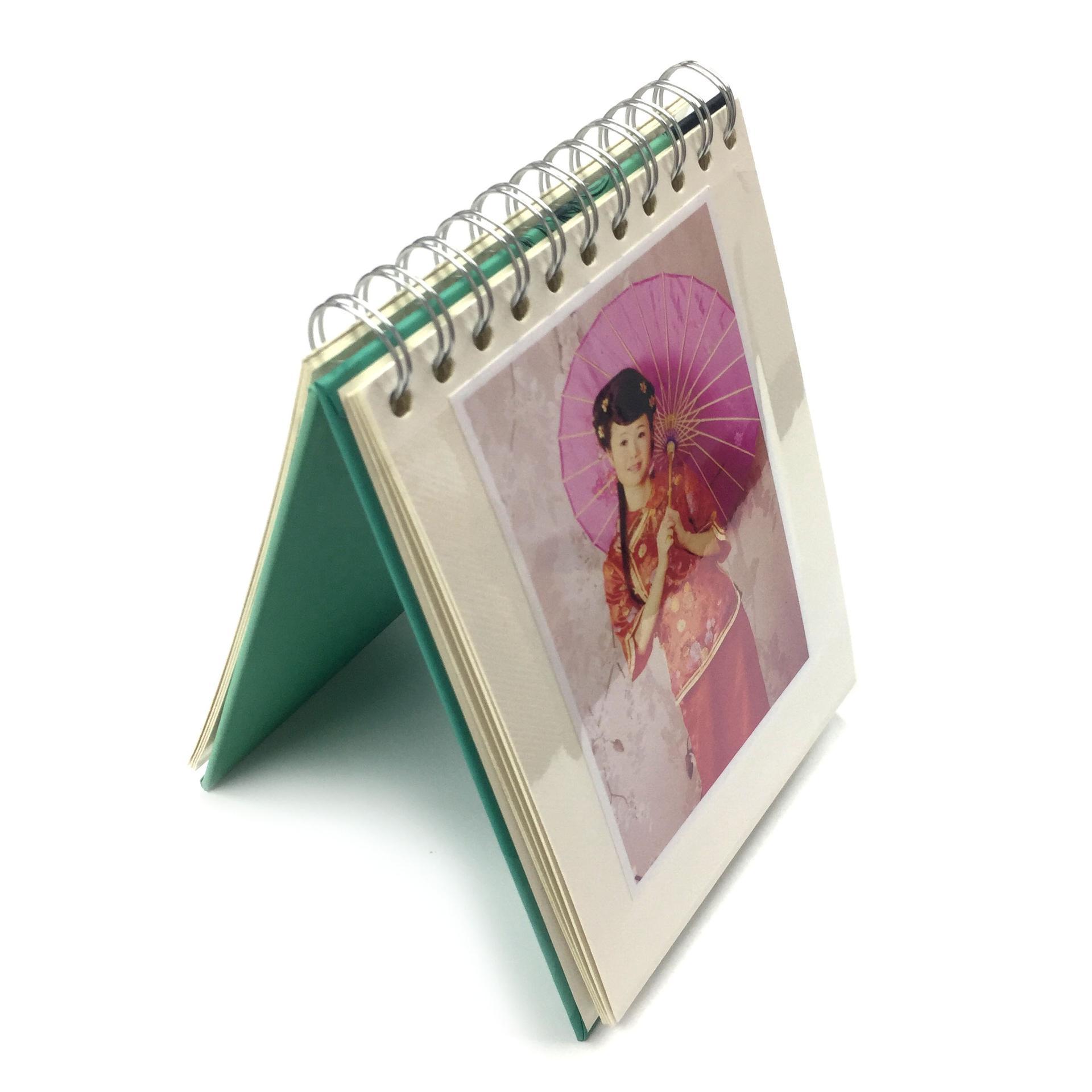 product-Dezheng-Elegant Flamingo Custom Spiral Bound 58x8 Self Adhesive Photo Album In Stock-img-1