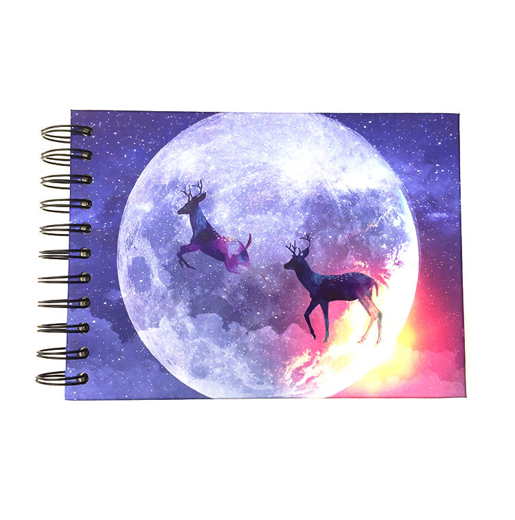 Deer Theme 5.8x8 Inch Hardcover Wedding Photo Album With 20 Sticky White Pages