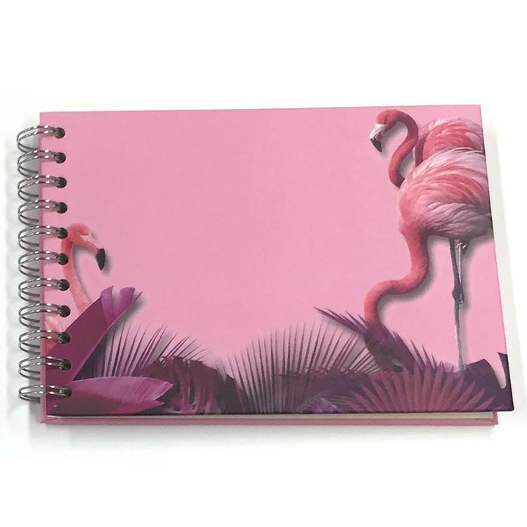 Beautiful Flamingo Spiral binding 10 sheets Self Stick Photo Album Scrapbook