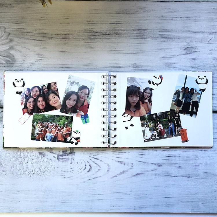 product-Dezheng-2020 Silver Spiral Binding Flamingo Photo Album With Self Adhesive Pages for Memorie-1