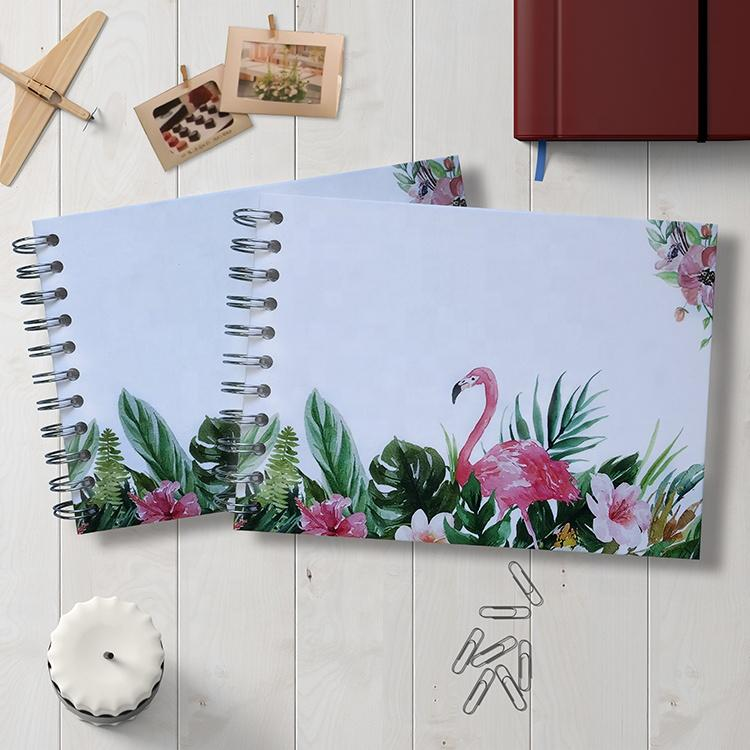 Self Adhesive Pages Photo Album Flamingo PrintScrapbook With 20 Pages