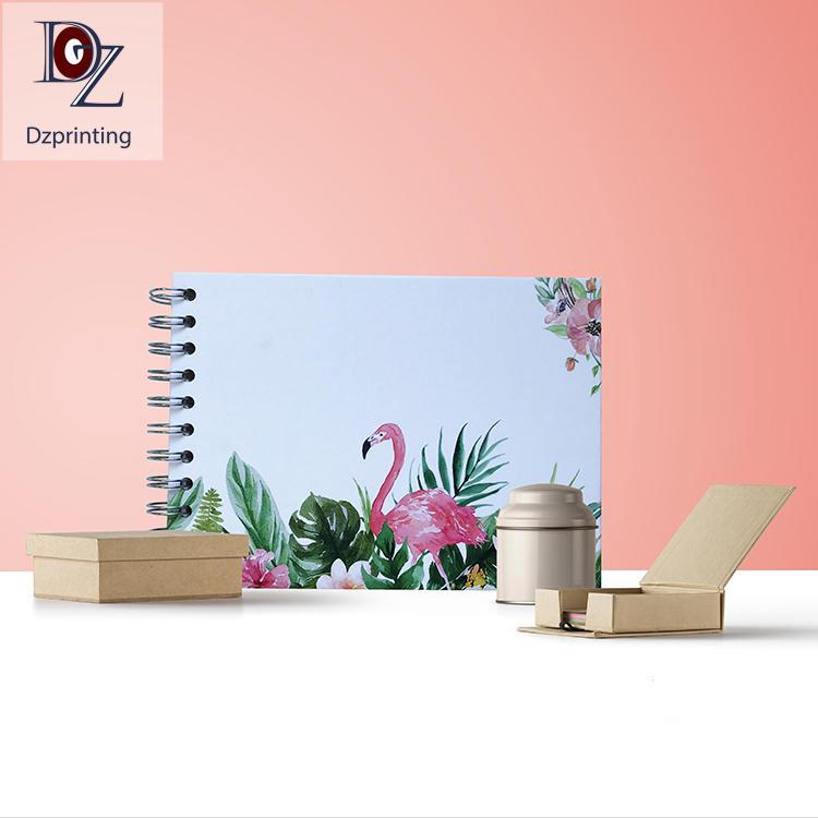 product-Flamingo Design Paper Hardcover Self Adhesive Sheets Photo Album-Dezheng-img-1