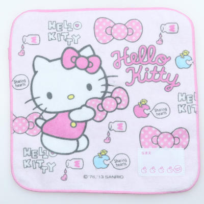 custom sublimation terryprinted hand towel China factory kitty baby