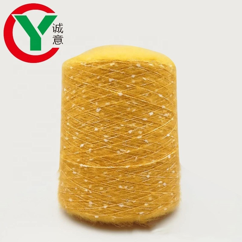 Lots of repertory acrylic and polyester blended toothbrush mohair yarn with cheap price