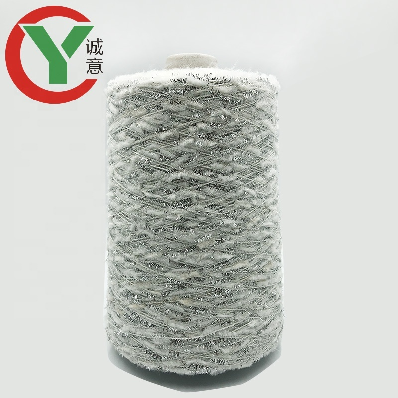 popular wholesale selling low moq chunky polyester fancy yarn for scarf knitting