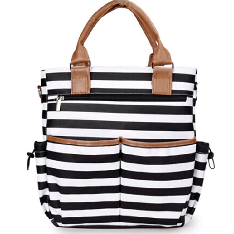 Osgoodway OEM Microfiber Material Tote Baby Diaper Shoulder Bags Durable Mummy Mother Baby Nappy Bag