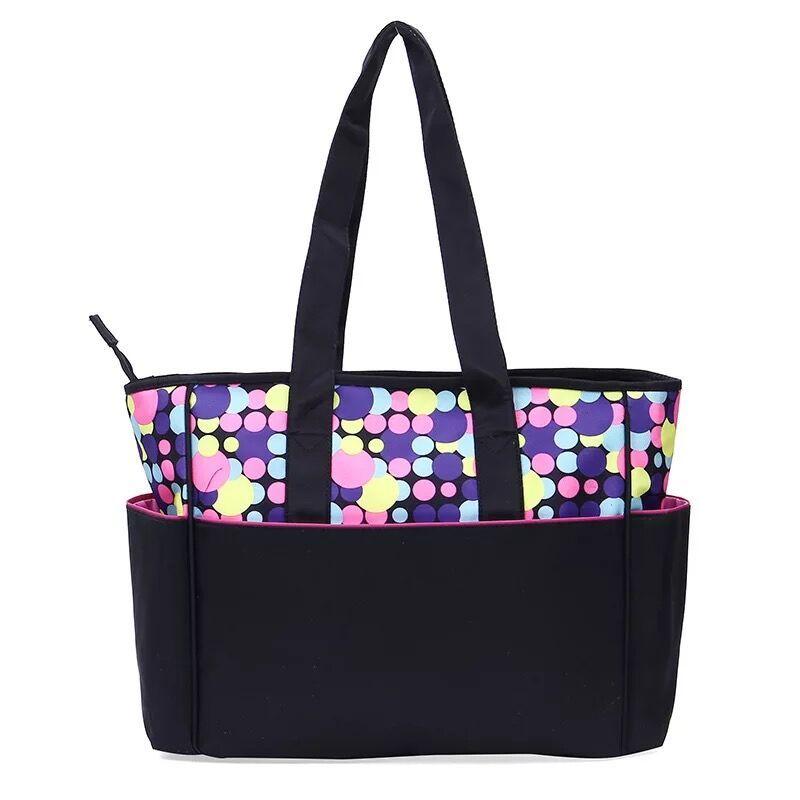 product-Osgoodway2 Fashion Printed Dot Pattern Mummy Baby Tote Travel Bag 5pcs Diaper Bag Set-Osgood-1